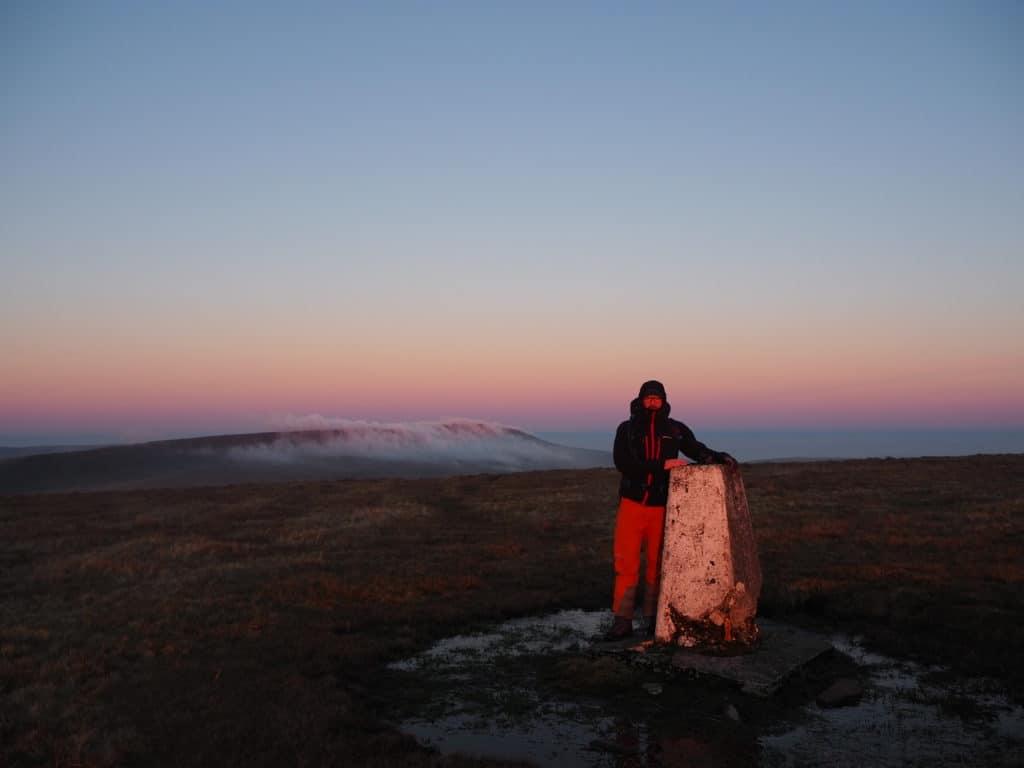 sun rise over Fan Brycheiniog