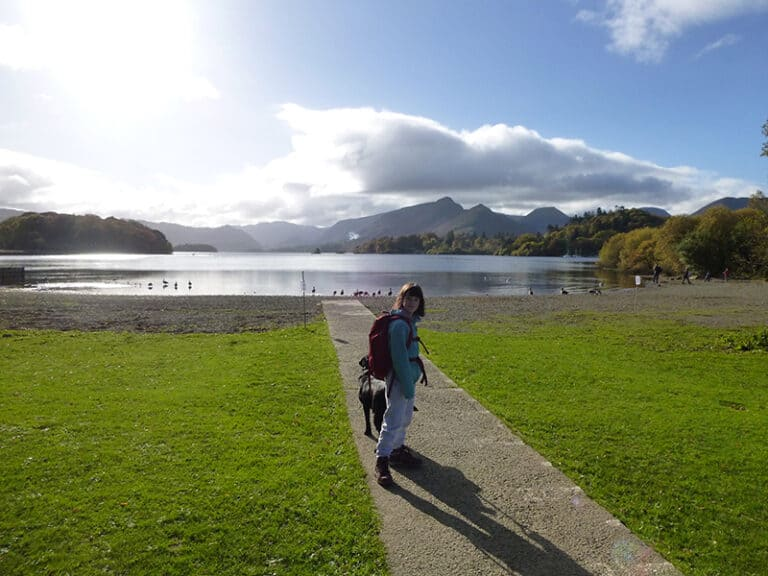 View of Derwent Water from the Campervan