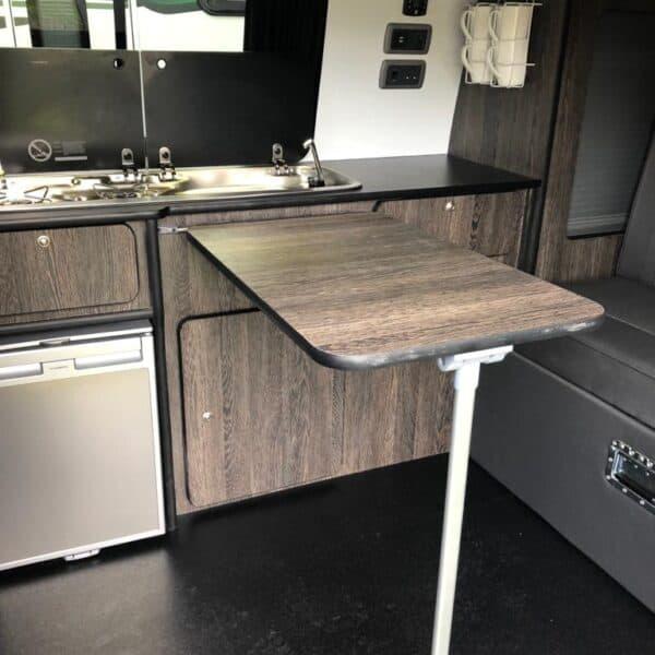 Jossie kitchen and rear seats