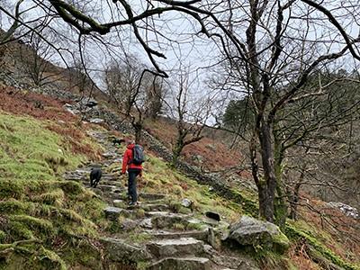 Walking up Cadair Idris