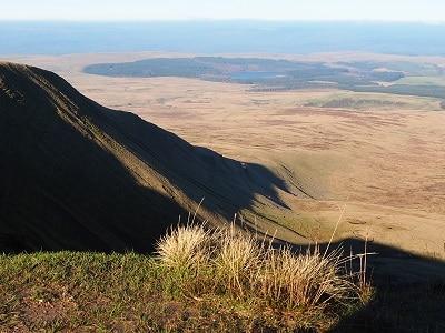 View down from Bannau Sir Gaer