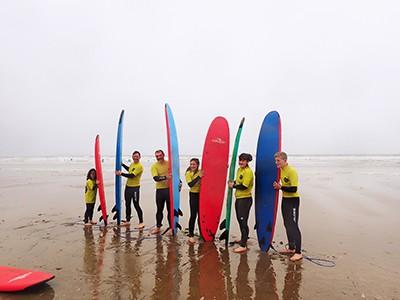 Surf lesson on Rhossili Beach