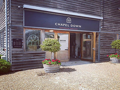 Chapel Down vineyard entrance