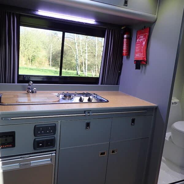 Adventure Van kitchen and sink