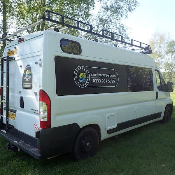 Adventure van camping in Sarratt