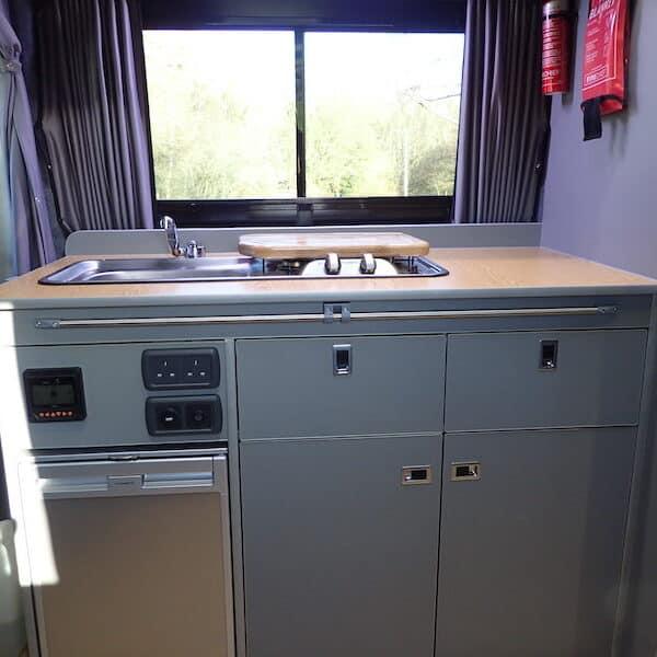 Adventure Van kitchen cupboards