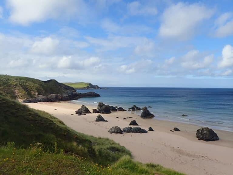 Beach near Durness on NC500 tour in Scotland