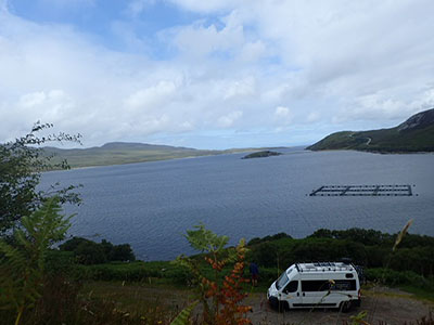 View over Loch Eriboll on NC500 in Scotland