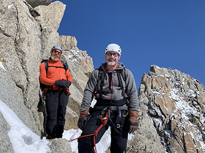 Having a break on from cliff climbing in the Alpes