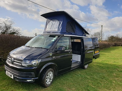 Campervan from the front near side
