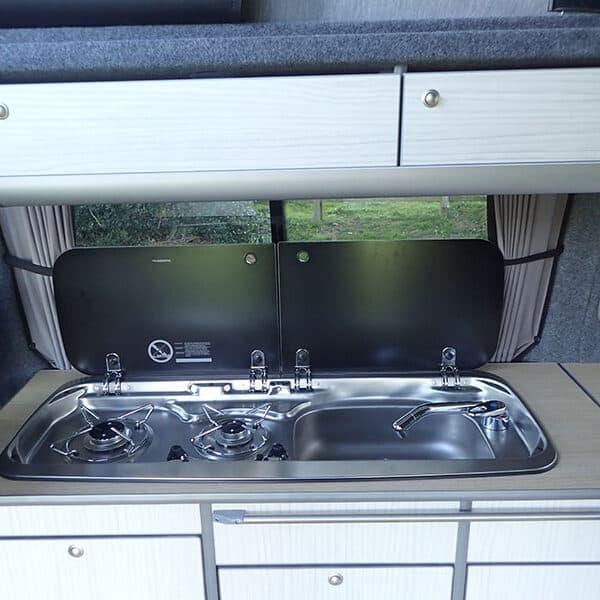 Campervan sink and hob