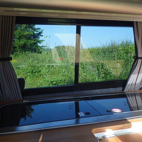 Campervan view through the window