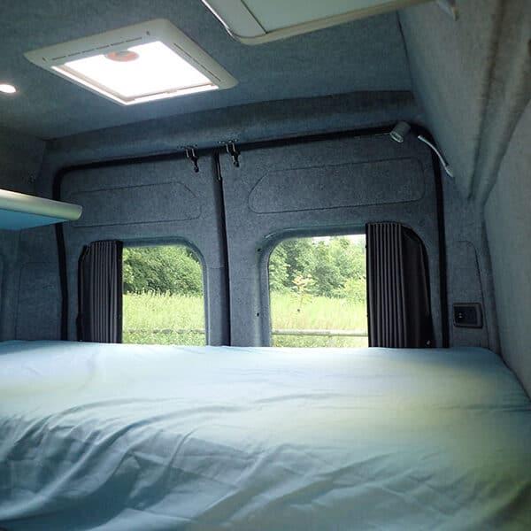 Campervan rear bed