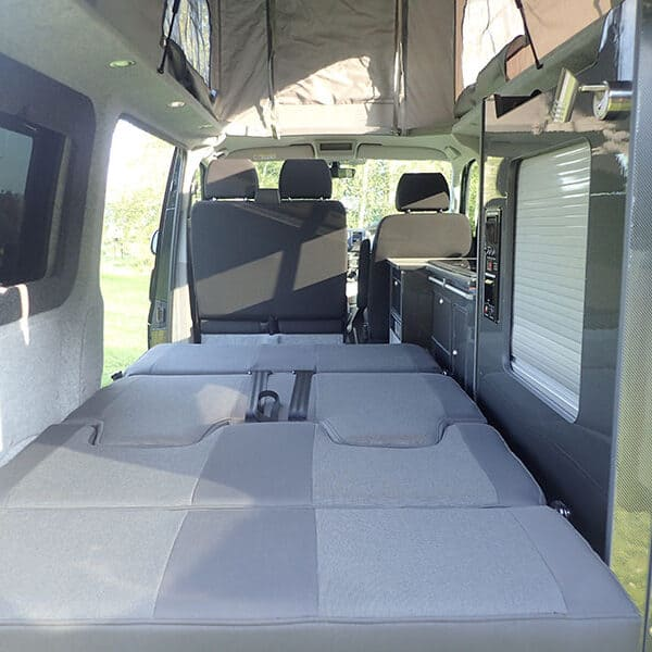 Campervan with bed down